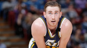 SACRAMENTO, CA - APRIL 5: Gordon Hayward #20 of the Utah Jazz looks on during the game against the Sacramento Kings on April 5, 2015 at Sleep Train Arena in Sacramento, California. NOTE TO USER: User expressly acknowledges and agrees that, by downloading and or using this photograph, User is consenting to the terms and conditions of the Getty Images Agreement. Mandatory Copyright Notice: Copyright 2015 NBAE (Photo by Rocky Widner/NBAE via Getty Images)